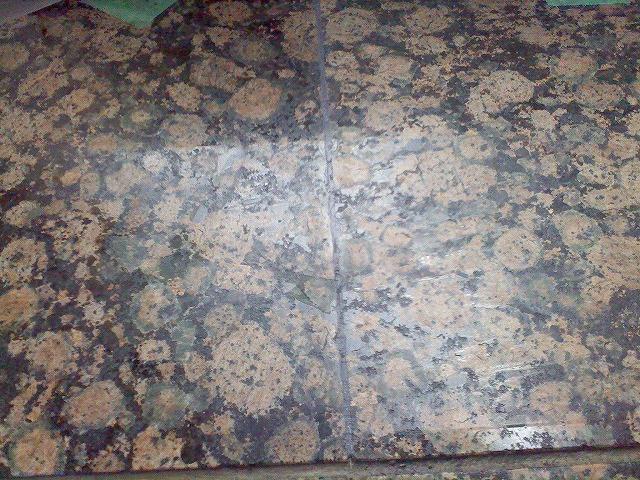 止水板(防潮板)の石目地床面平滑化処理後