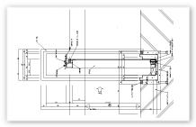 防水シート 見込タイプ 断面図